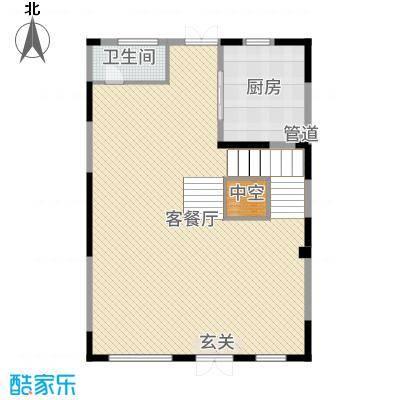 金河湾392.61㎡B一层户型2室2厅1厨