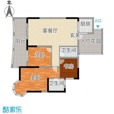 凯信水韵滨江二期公园大帝138.50㎡A户型3室3厅2卫1厨
