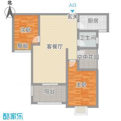 天逸双水湾105.00㎡3户型3室3厅1卫1厨