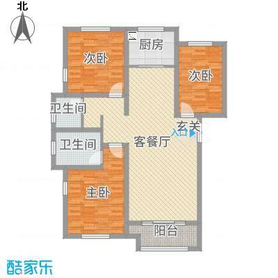 国仕山135.62㎡N2户型3室3厅2卫1厨