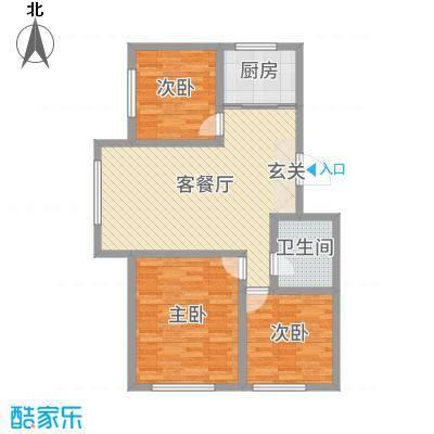 良品柏宏爱琴湾94.14㎡d14#15#E户型3室3厅4卫4厨