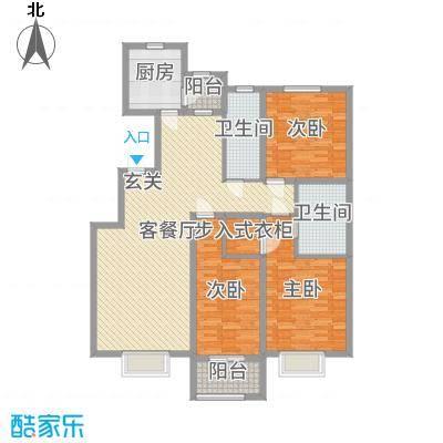 民生凤凰城142.00㎡L户型3室3厅2卫1厨