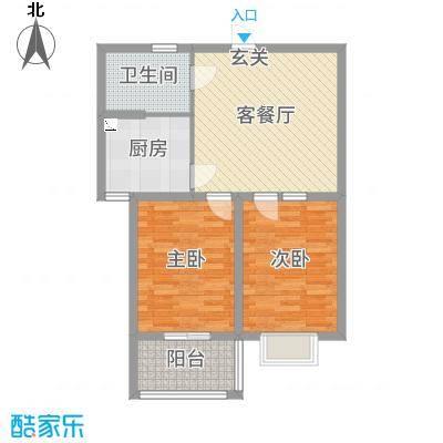 金马怡园78.00㎡高层31号楼户型2室2厅1卫1厨