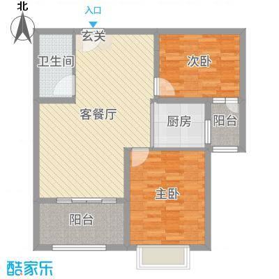 时代广场88.73㎡4#5#A3户型2室2厅1卫1厨