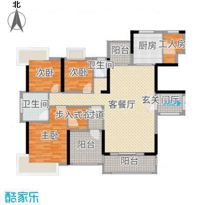 丰泰观山碧水・凌峰159.00㎡1栋1、2单元1-2户型4室4厅2卫1厨