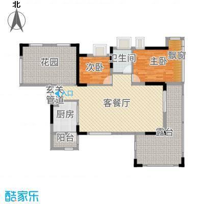 丰泰观山碧水・凌峰116.00㎡3栋/6栋1单元02户型2室2厅1卫1厨