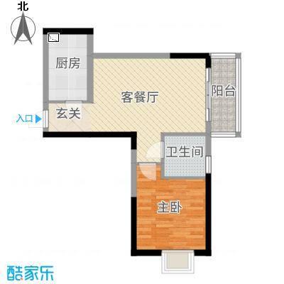 鑫苑国际新城60.00㎡M4户型1室1厅1卫1厨