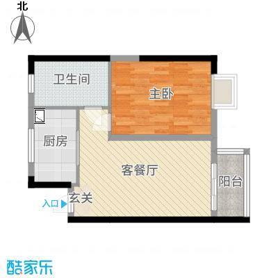 鑫苑国际新城60.00㎡L1户型1室1厅1卫1厨