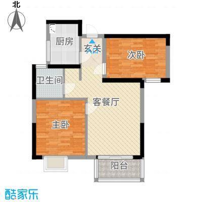 鑫苑国际新城75.00㎡M5户型2室2厅1卫1厨