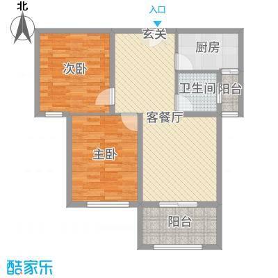 明发・淄博世贸中心91.74㎡C2-2户型2室2厅1卫1厨