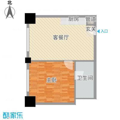 时代国际74.05㎡乐居风尚公寓Bg户型1室1厅1卫