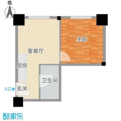 时代国际75.16㎡乐居风尚公寓Be户型1室1厅1卫