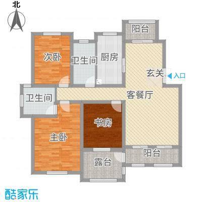 御园135.00㎡E5楼3层-E3户型3室3厅2卫