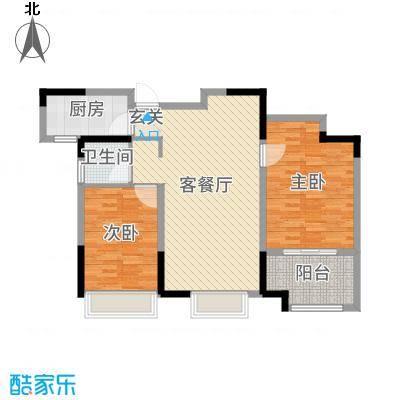 港龙・景山秀水94.00㎡D3户型2室2厅1卫1厨