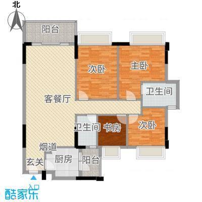 新长江顺心居124.30㎡8/10栋2座01户型4室4厅2卫1厨