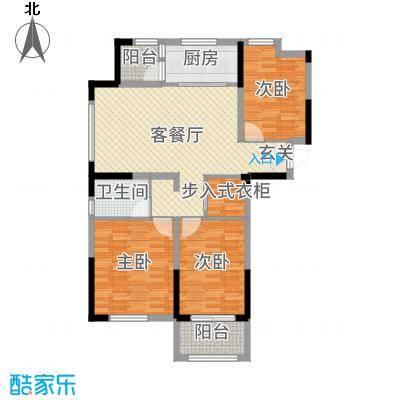 港龙・景山秀水109.00㎡D1户型3室3厅1卫1厨
