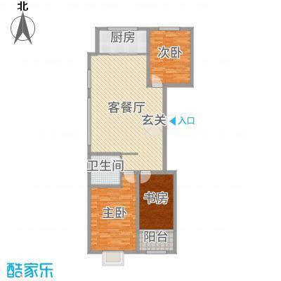民生凤凰城113.00㎡C户型3室3厅1卫1厨