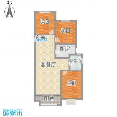 民生凤凰城116.00㎡D户型3室3厅1卫1厨
