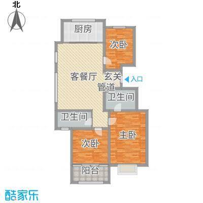 民生凤凰城137.00㎡K户型3室3厅2卫1厨