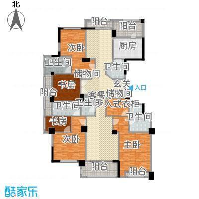 百合花园316.00㎡C2户型4室4厅5卫