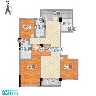 百合花园154.00㎡H1户型3室3厅2卫