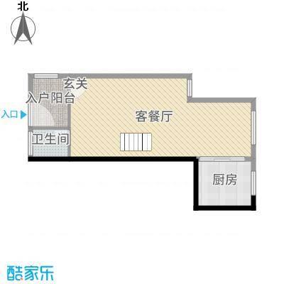 汇金置地广场67.00㎡B5一楼户型3室3厅2卫1厨