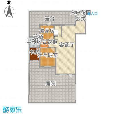 水韵豪庭138.00㎡B负一层户型4室4厅1卫