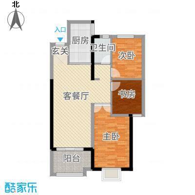 四季金辉90.17㎡11#楼G5户型3室3厅1卫1厨