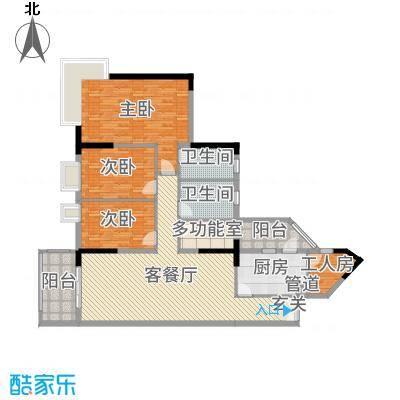 翠竹苑162.44㎡B3/A1/A2栋08户型3室3厅2卫1厨