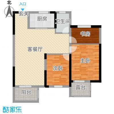 保集湖海塘庄园115.00㎡高层D2户型3室3厅1卫1厨