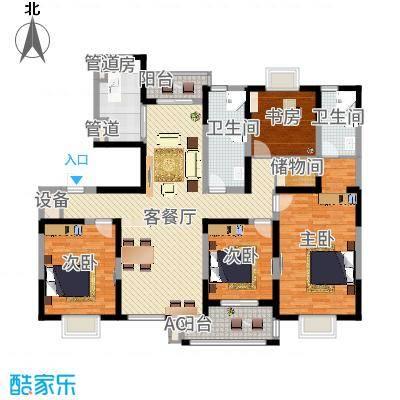 和美第178.50㎡和美第户型图G4室2厅2卫1厨户型4室2厅2卫1厨-副本