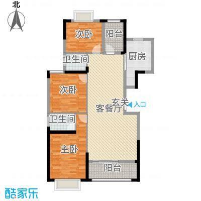紫宸澜山129.87㎡3栋2、03、04、05、06、07户型3室3厅2卫1厨