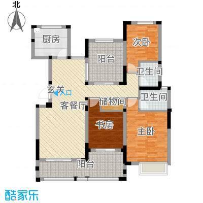 小天鹅品园131.20㎡I户型3室3厅2卫