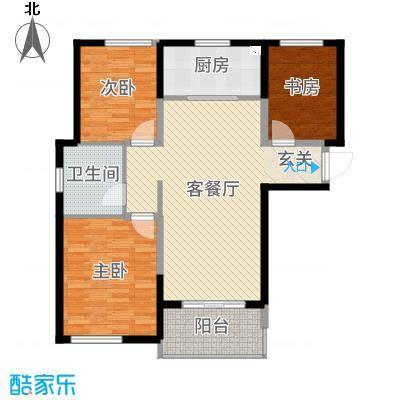 金桥澎湖湾105.15㎡四期尚海-和煦阳光户型3室3厅1卫1厨