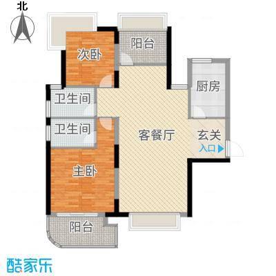明发摩尔城118.00㎡一期8#标准层C1户型3室3厅2卫1厨
