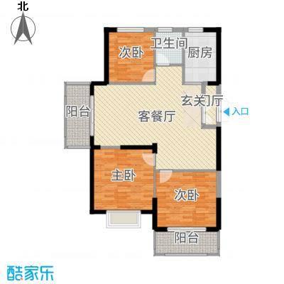 郁金蓝湾114.00㎡4#5#楼户型3室3厅1卫1厨
