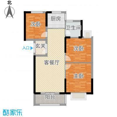 郁金蓝湾108.00㎡4#5#楼户型3室3厅1卫1厨