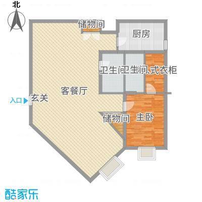 金紫荆公馆127.01㎡1号楼C户型1室1厅1卫1厨