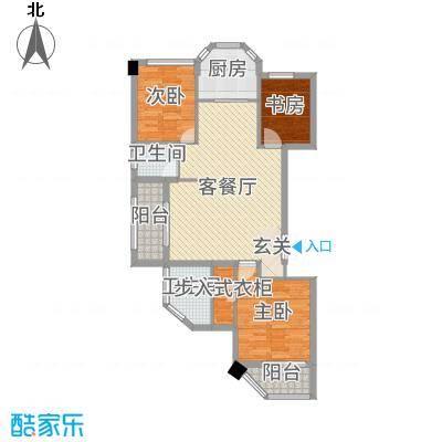 米兰花园102.16㎡一期2#楼标准层Da-a户型3室3厅2卫1厨