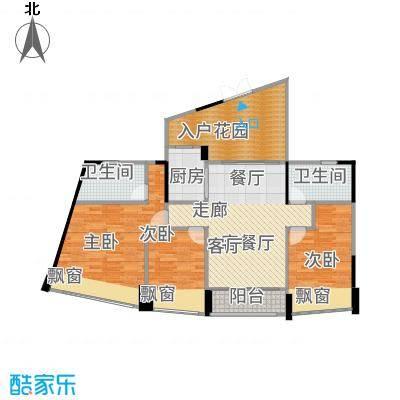 鸿洲・天玺106.00㎡B户型3室2厅2卫-副本