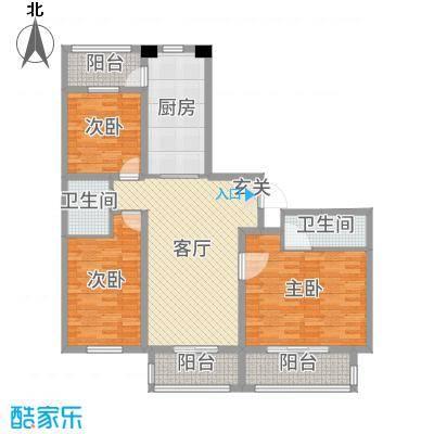 盛世香湾138.54㎡G8/16/17号楼C2户型3室3厅2卫1厨
