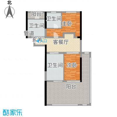 合正东部湾108.00㎡77、78、79#楼A户型2室2厅2卫1厨