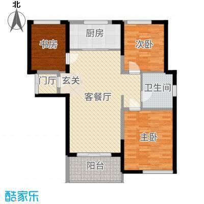 金桥澎湖湾101.92㎡四期尚海-馨享时光户型3室3厅2卫1厨