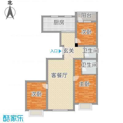 金地花园146.46㎡14646户型3室3厅2卫