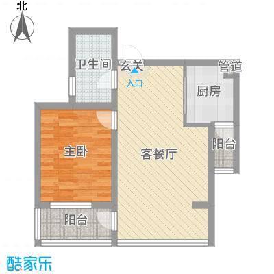 南通中央商务区56.00㎡办公户型2室2厅1卫