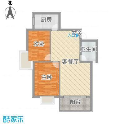 聚福新城91.38㎡F33户型2室2厅1卫1厨
