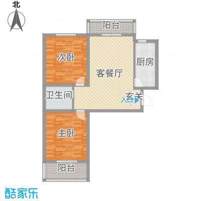 景都花苑Ⅲ・花贵99.80㎡5号楼C户型2室2厅1卫1厨