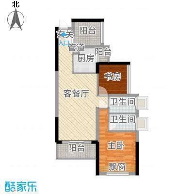 龙光・水悦龙湾89.00㎡7/8/9座04单元户型3室3厅2卫1厨