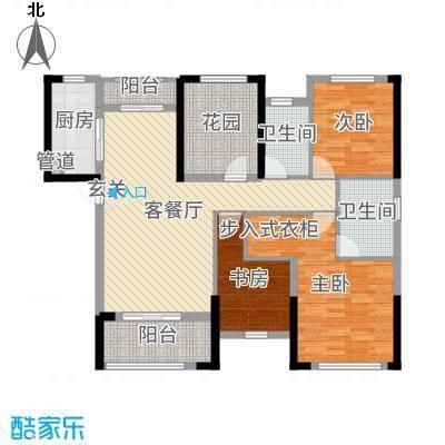 旭辉香樟公馆118.48㎡2栋F户型4室4厅2卫1厨