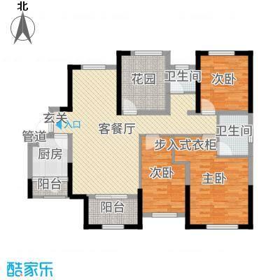 旭辉香樟公馆119.01㎡A8栋户型4室4厅2卫1厨